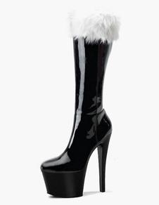 Alta Paltform sexy botas con piel sintética