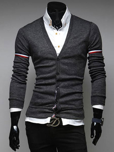 v-neck-men-cardigan