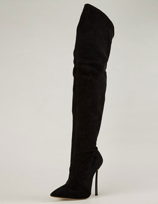 suede-pointed-toe-tigh-high-boots