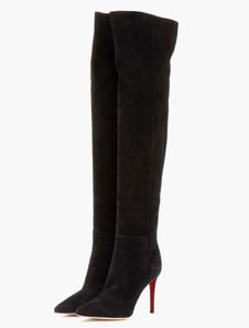 Pointed Toe Over The Knee Boots For Woman