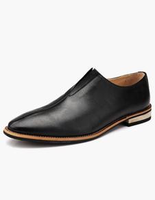 Image of Punta a mandorla PU vestito di cuoio calzature
