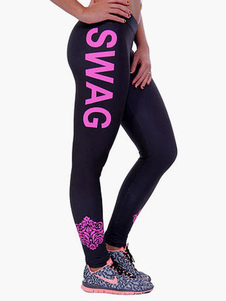 letter-print-leggings
