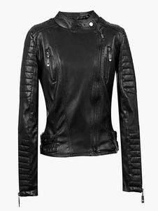 women-black-pu-leather-moto-jacket