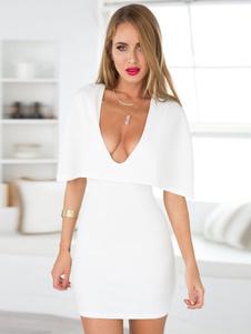 Image of Abito sexy bianco del capo estivo