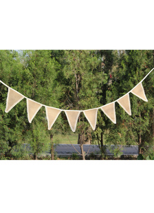 brown-pennant-wedding-decorations