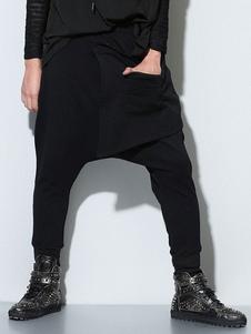 Image of Pantaloni pantaloni 2019 harem pantaloni a goccia in cotone con