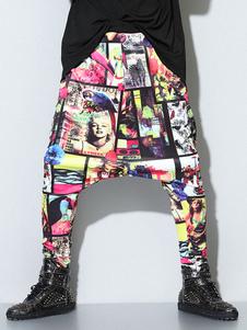 Image of Multicolor stampa Lycra Spandex Harem pantaloni per gli uomini