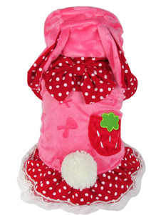red-strawberry-synthetic-pets-costume
