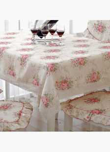 pink-floral-garden-polyester-tablecloth