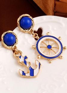 Image of Blu marino in lega irregolari orecchini per le donne