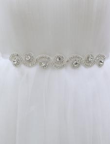 silver-wedding-sash-for-bride-with-rhinestones