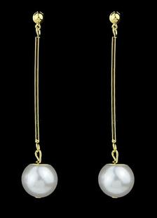 Image of Elegante perla ciondola l'orecchino