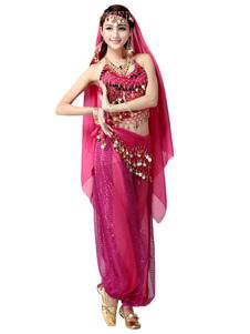 Image of Vio Sexy Costume di danza del ventre 4 pezzi per le donne