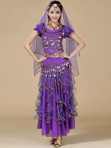 Image of Costume Sexy Viola Chiffon danza del ventre per le donne