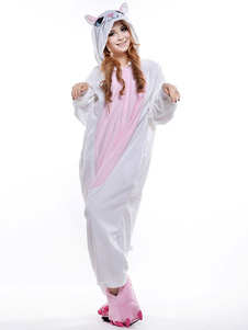 Costume mascotte blanc du Chat  Halloween