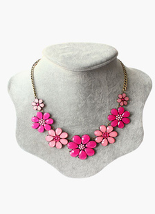 Flowers Fashion Alloy Necklace for Women