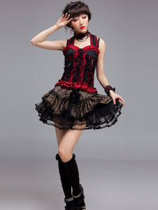 sexy-red-lace-polyester-lolita-corset-for-women