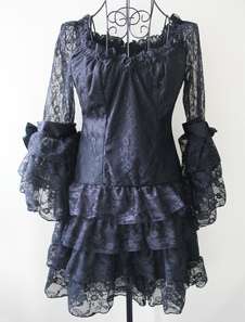 black-lace-lolita-one-piece-dress-long-hime-sleeves