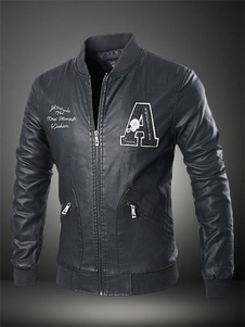 black-logos-pu-moto-jacket-for-men