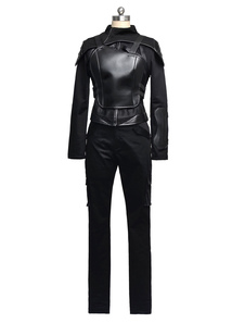 Image of La fame Giochi Katniss Everdeen Cosplay Costume nero versione Carnevale
