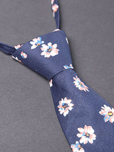 daisy-printed-men-tie-in-two-colors