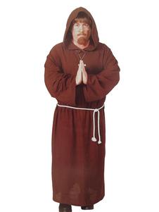 Image For Halloween Marrone Monk Robe Maschile Pasquale Poliestere Religioso Costume Cosplay Halloween