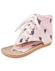 light-pink-academic-textile-flats-for-women