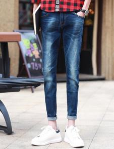 Blue Quality Denim Skinny Jeans For Men