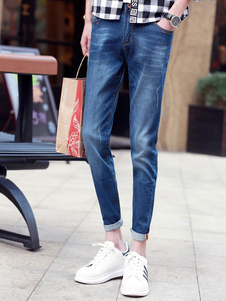 Blue Slim Denim Skinny Jeans For Men