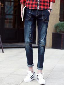 black-denim-ripped-skinny-jeans-for-men