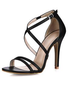 black-pu-fashion-gladiator-sandals-for-women