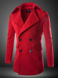 red-double-breasted-cotton-coat-for-men
