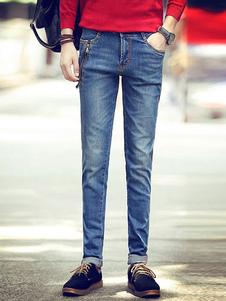 Quality Blue Denim Skinny Jeans for Men
