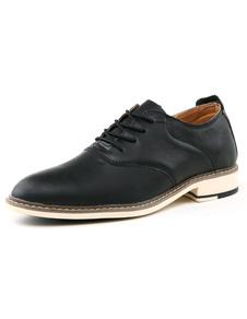 Estilo británico negro PU zapatos del elevador para los hombres