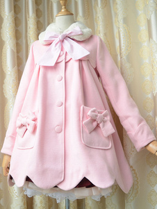 Fiocco rosa Terry Lolita cappotto per ragazze
