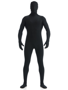 Image of Black Lycra Spandex Zentai Suit per gli uomini Carnevale