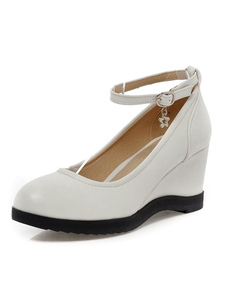 white-pu-fashion-fashion-wedge-shoes-for-women