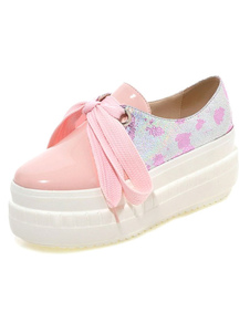 Image For Light Pink PU Casual Flats for Women