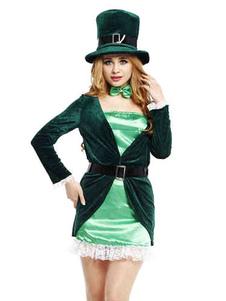 Image For Vacanze verde poliestere Cosplay costumi per le donne