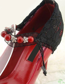 black-pearls-lace-shoes-accessories-for-lady