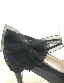 black-lace-bow-shoes-accessories-for-women
