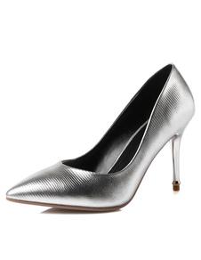 fashion-silver-glazed-pu-pumps-for-women