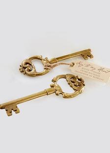 Image of Cuore di bronzo dell'annata chiave favore apribottiglie matrimonio