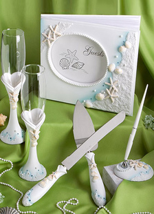 ivory-resin-ocean-stlye-wedding-serving-set-6-in-1