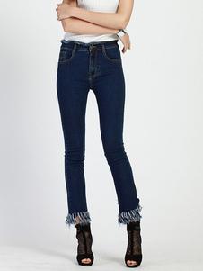 blue-raw-edge-denim-jeans-for-women