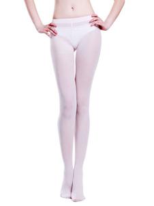 Bailarina Blanca terciopelo medias de Ballet para las mujeres