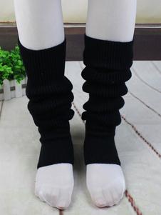 Bailarina negra pata de algodón para mujeres