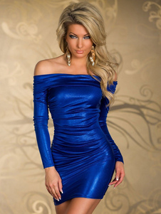 blue-off-the-shoulder-bodycon-club-dress-for-women