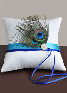 blue-white-peacock-ribbons-satin-wedding-pillow
