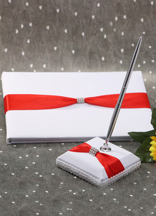 two-toned-metal-details-wedding-books-pens